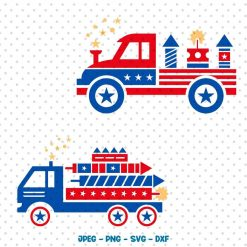 4th of July Truck SVG, Truck SVG, American Truck svg, Patriotic Old Truck, American Flag Truck svg Cricut, Silhouette, svg files ,Clipart Digital Product SVG File Studio