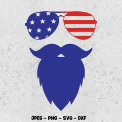 4th of July Beard SVG