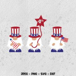 4th of July gnomes SVG
