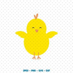 Chick Easter SVG, Easter SVG, Chick Svg, Easter Chick Svg, Cute Chick Easter Chick SVG, Silhouette Cut Files, Cricut Cut Files, Svg Files Digital Product Dragon Studio