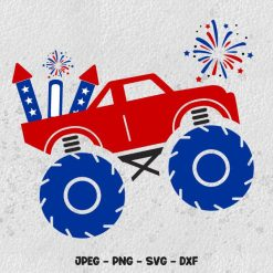 Monster Truck SVG 4th of July SVG