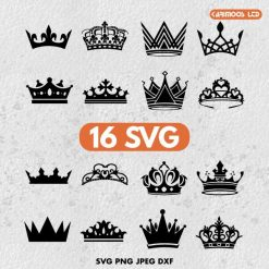 queen crown design bundle svg