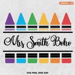 free crayon split monogram svg