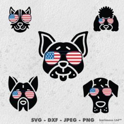 4th of July Dog Bundle SVG