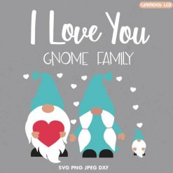 I love you gnome family svg