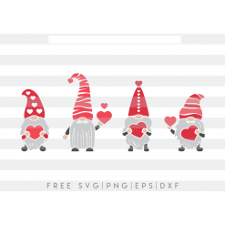 Valentines day gnomes with love hearts, gnomes holding hearts, loving SVG, PNG, Eps, DXF,Pdf cricut, silhouette studio,cut file, vinyl decal Digital Product Valentine's SVG