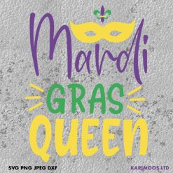 Mardi Gras Queen SVG