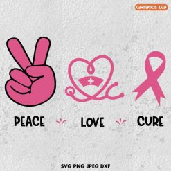 peace love cure svg