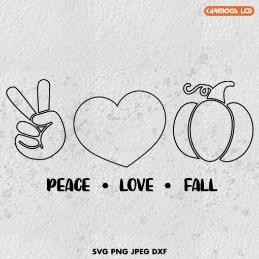 free peace love fall svg