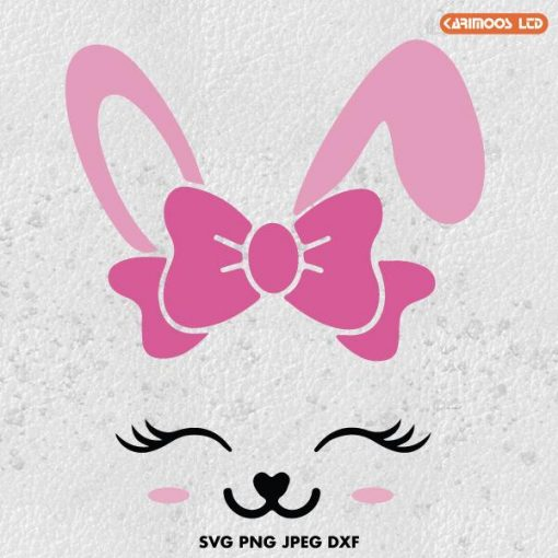 rabbit svg bunny svg easter svg