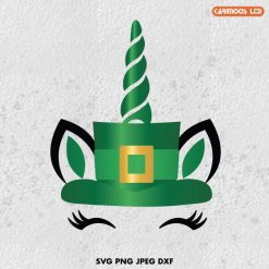 St Patrick's Day Unicorn SVG
