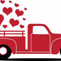 Valentines Truck Svg, 3 Designs Truck included, valentines day svg, Love struck svg, love svg for cricut silhouette, jpg png dxf eps Digital Product Valentine's SVG