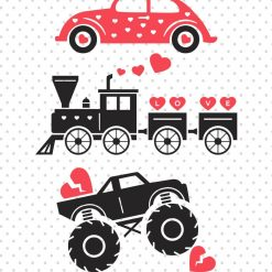 Old train SVG - Monster truck SVG - Car SVG - Valentine's day SVG Digital Product SVG file studio