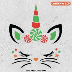 Christmas Cat unicorn SVG ∞ Karimoos