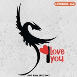 Free Dragon st valentine's Day svg