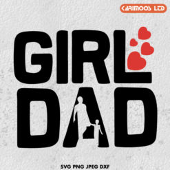 Free girl dad SVG