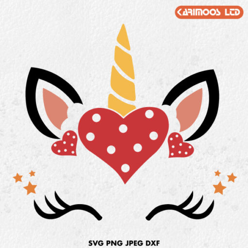 Valentine's Day Unicorn SVG