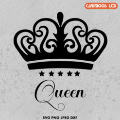 Free Crown queen svg file