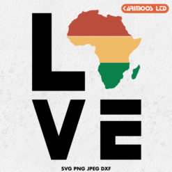 love africa black history month svg