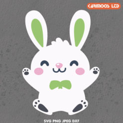 cute baby rabbit svg for easter