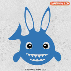 free easter shark svg